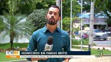 Homicídios em Juazeiro do Norte, Várzea Alegre e Farias Brito - Saiba mais no g1.com.br/ce