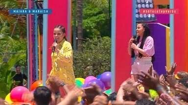 Maiara e Maraísa cantam 'Aí eu bebo' - Dupla abre o SóTocaTop Verão deste sábado