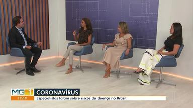 Debate: Especialistas falam sobre o corona vírus; são 17 casos suspeitos em MG - Em Minas Gerais são 17 casos suspeitos e um em Montes Claros, segundo o balanço do Ministério da Saúde.