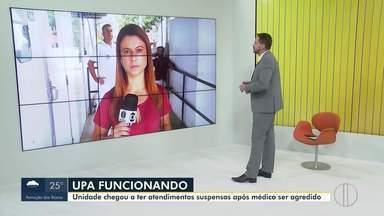 UPA de Cabo Frio está funcionado neste sábado após médico ser agredido na quinta - A repórter Fernanda Soares traz mais informações.