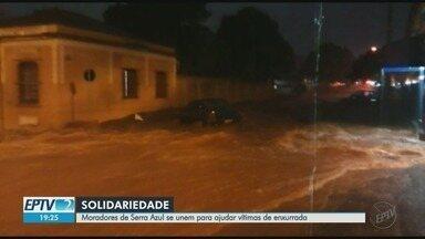 Moradores se unem para ajudar vítimas de enchente em Serra Azul, SP - Chuva forte atingiu a cidade na noite de sexta-feira (28). Doações podem ser entregues na Rua Dona Maria das Dores, 59.