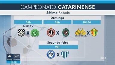 Joinville e Marcílio Dias duelam no Norte do estado; Figueira e Chape jogam no domingo - Joinville e Marcílio Dias duelam no Norte do estado; Figueira e Chape jogam no domingo