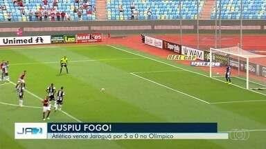 Atlético Goianiense vence Jaraguá no Estádio Olímpico, em Goiânia - Time goiano venceu por 5 a 0.