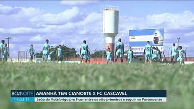 Leão do Vale busca uma vaga na segunda fase do Paranaense 2020 - O time enfrenta o FC Cascavel em casa, neste domingo (1).