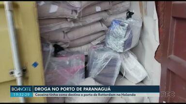 Droga apreendida no Porto de Paranaguá - Cocaína estava escondida em contêiner que ia para a Holanda.