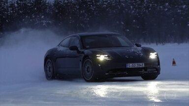 Veja como é acelerar um esportivo elétrico no gelo - Veja como é acelerar um esportivo elétrico no gelo