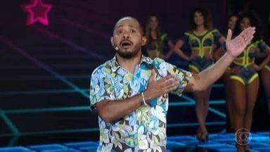 Ivo Ferreira arranca risadas como Zé Ninguém - O figuraça diverte todo mundo no palco do Domingão