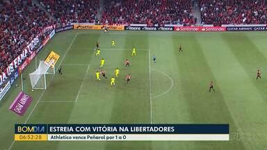 Athletico vence Peñarol na Libertadores - O jogo foi 1 a 0.