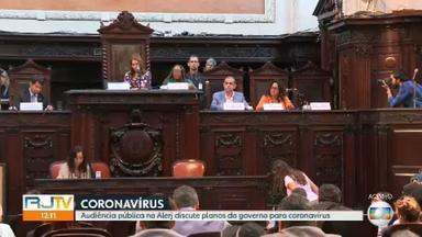 Audiência pública na Alerj discute planos do governo para coronavírus - A Comissão de Saúde da Alerj e uma comissão especial da Câmara dos Deputados fazema audiência pública na Alerj sobre novo coronavírus.