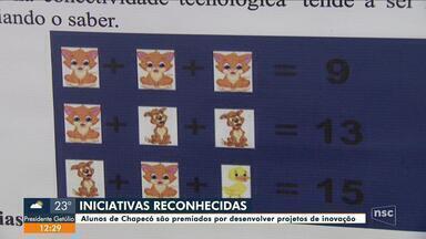 Alunos de Chapecó são premiados por desenvolver projetos de inovação - Alunos de Chapecó são premiados por desenvolver projetos de inovação