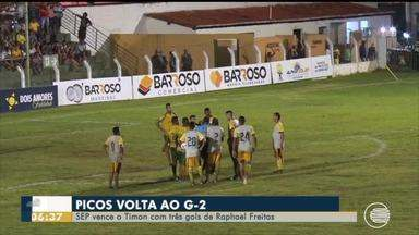Time do Picos vence o Timon com três gols e Raphael Freitas pede música - Time do Picos vence o Timon com três gols e Raphael Freitas pede música