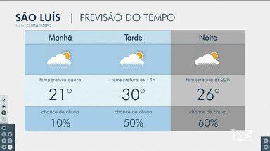 Veja as variações das temperaturas no Maranhão - Confira a previsão do tempo nesta terça-feira (10) em São Luís e também no interior do estado.
