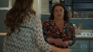 Ermelinda aconselha Luna sobre Téo - Ela acredita que os jovens não vão conseguir resistir à paixão