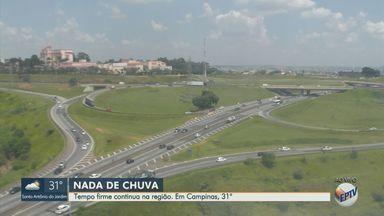 Previsão do tempo não mostra chuva e tempo deve continuar firme na região de Campinas - Campinas deve ter temperatura máxima de 31°C nesta quinta-feira (12).