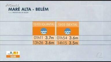 Prefeitura de Belém divulga a tábua da maré de quinta, 12, e sexta-feira, 13 - Prefeitura de Belém divulga a tábua da maré de quinta, 12, e sexta-feira, 13