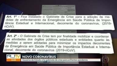 Governo do RJ cria gabinete de crise para enfrentar o novo coronavírus - As redes de ensino municipal e estadual vão interromper as aulas.