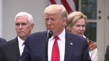 Donald Trump declara emergência nacional para combater pandemia do coronavírus - O número de casos do novo coronavírus nos Estados Unidos não param de subir. Já são mais de 2 mil.