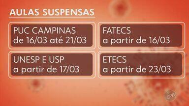 Universidades e instituições de ensino suspendem aulas presenciais em Campinas - Nesta semana, a Unicamp, a faculdade São Leopoldo Mandic e a Facamp anunciaram a suspensão dos serviços.