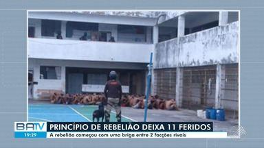 Onze pessoas ficaram feridas em um princípio de rebelião em colônia penal de Simões Filho - O motim começou por volta de 14h deste sábado (14), após uma briga entre duas facções rivais.
