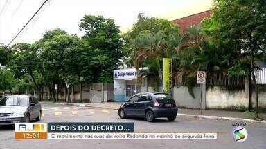 Decreto estadual que interrompe as aulas passa a valer nesta segunda-feira - RJ1 mostra a situação de Volta Redonda, cidade com maior comunidade escolar da região.