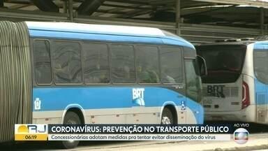 Concessionárias discutem medidas para reduzir contágio do coronavírus - Concessionárias irão se reunir com a Secretaria de Transportes na manhã desta terça-feira (17) para definir medidas adotadas para reduzir a quantidade de passageiros.