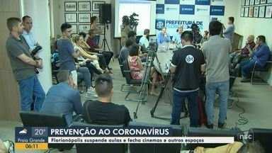 Aulas são suspendas e cinemas fechados por causa do coronavírus em Florianópolis - Aulas são suspendas e cinemas fechados por causa do coronavírus em Florianópolis