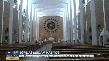 Igrejas mudam hábitos por causa do coronavírus em Blumenau - Igrejas mudam hábitos por causa do coronavírus em Blumenau