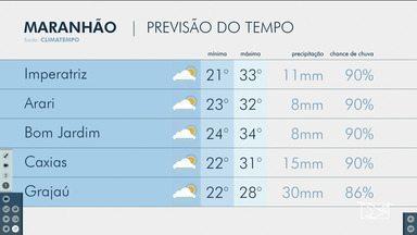 Veja as variações das temperaturas no Maranhão - Confira a previsão do tempo nesta terça-feira (17) em São Luís e também no interior do estado.