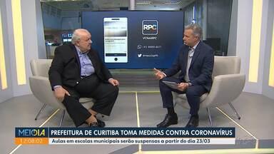 Prefeitura de Curitiba toma medidas contra coronavírus - Aulas serão suspensas a partir do dia 23 de março.