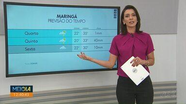 Tempo fica instável em Maringá - Confira a previsão para os próximos dias na cidade.