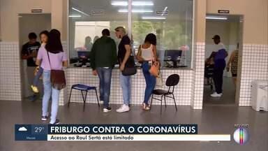 Acesso ao hospital Raul Sertã, em Nova Friburgo, RJ, está limitado - Município está reorganizando número de pessoas e horários para fazer visitas.