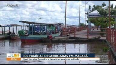 Rios Tocantins e Itacaiúnas invadem orla e ruas de Marabá, sudeste do Pará - Rios Tocantins e Itacaiúnas invadem orla e ruas de Marabá, sudeste do Pará