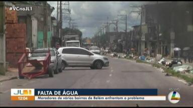 Moradores protestam contra falta de água e segurança no bairro da Terra Firme, em Belém - Moradores protestam contra falta de água e segurança no bairro da Terra Firme, em Belém