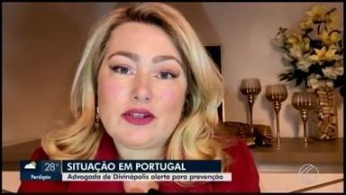 Advogada de Divinópolis relata como está a situação do coronavírus em Portugal - Tereza Lada enviou um vídeo ao MG1 com alerta sobre a prevenção da doença e comentou sobre a primeira morte em decorrência da doença no país.
