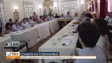 Medidas adotadas contra coronavírus em Santos foram divulgadas em reunião - Após reunião, medidas contra a COVID-19 são tomadas, e tem reflexos na região.