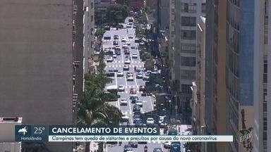 Campinas tem queda de visitantes e prejuízos por causa do novo coronavírus - Cidade é a quinta no país com o maior número de eventos internacionais, e está sentindo os efeitos da pandemia.