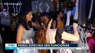 Comerciantes da Região da 44 não vão abrir as portas a partir de quinta-feira - Decreto foi publicado pelo Governo de Goiás.