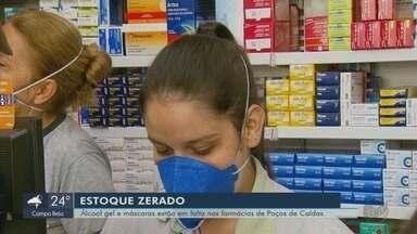 Álcool em gel e máscaras de proteção estão em falta no mercado de Poços de Caldas (MG) - Álcool em gel e máscaras de proteção estão em falta no mercado de Poços de Caldas (MG)