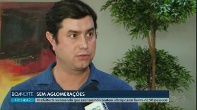 Prefeitura de Guarapuava lança decreto com medidas contra o Coronavírus - Prefeitura recomenda que eventos não podem ultrapassar limite de 50 pessoas