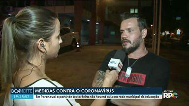 Coronavírus: prefeitura de Paranavaí determina o fechamento do comério mais cedo - Esta é uma das medidas anunciadas pelo município para prevenção da doença. As determinações passam a valer a partir desta quarta-feira (18).