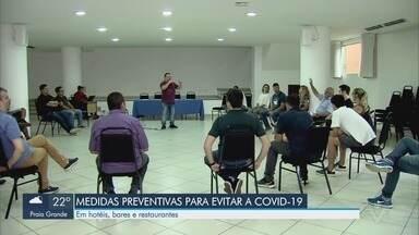 Sindicato dos hotéis, bares e restaurantes discutem medidas para coronavírus - Reunião foi feita para pensar medidas de prevenção contra o vírus responsável pela COVID-19.