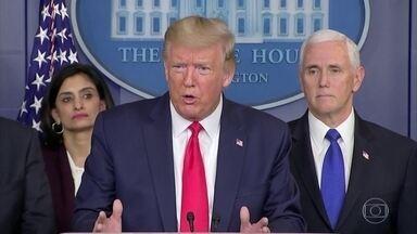Trump volta a anunciar medidas que asseguram a economia americana pelos próximos meses - Presidente quer colocar dinheiro imediatamente nas mãos dos americanos e assim ajudar a população mais vulnerável.