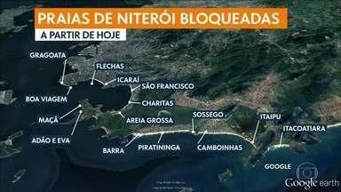 Prefeitura de Niterói fecha bares e bloqueia acesso a 15 praias - Niterói tem seis casos confirmados e uma noite suspeita.