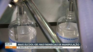 Ministério da Saúde autorizou as farmácias de manipulação a produzirem mais álcool gel - O desafio é negociar a matéria prima que está muito cara