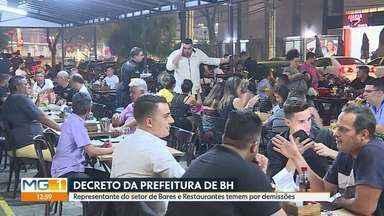 Prevenção ao Coronavírus: Fechados, setor de Bares diz que cenário é de muitas demissões - Prefeitura de Belo Horizonte publica decreto suspendendo alvará de funcionamento de vários setores.