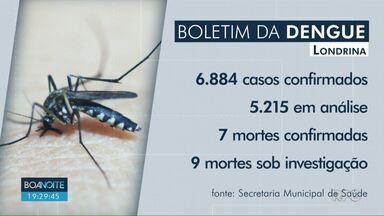 Londrina tem mais de 6 mil casos de dengue confirmados - Sete mortes foram confirmadas, outras nove estão sob investigação.