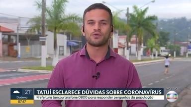Prefeitura de Tatuí esclarece dúvidas sobre o novo coronavírus - Perguntas serão feitas através do número 0800.