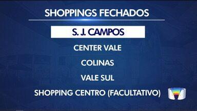 Shoppings da região suspendem financiamento - Em Taubaté, os dois shoppings já fecharam