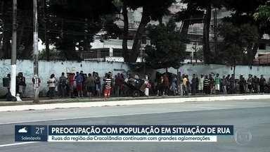 População em situação de rua continua em grandes aglomerações em SP - Ruas da região da Cracolândia estão cheias e Prefeitura diz que assistentes sociais estão intensificando as abordagens.