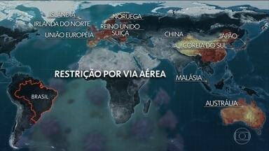 Governo restringe entrada de estrangeiros de mais de 30 países - Medida visa conter a expansão do novo coronavírus. Lista não inclui os Estados Unidos, que já declararam emergência nacional por causa da doença.